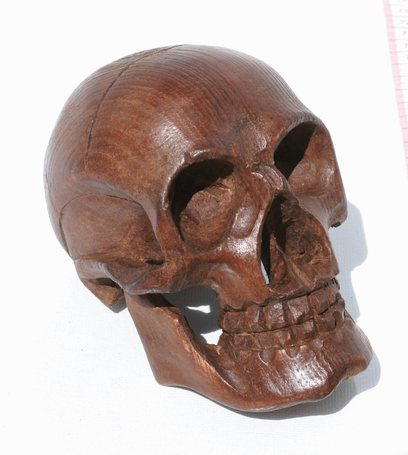Wooden skull crafts from ecuador