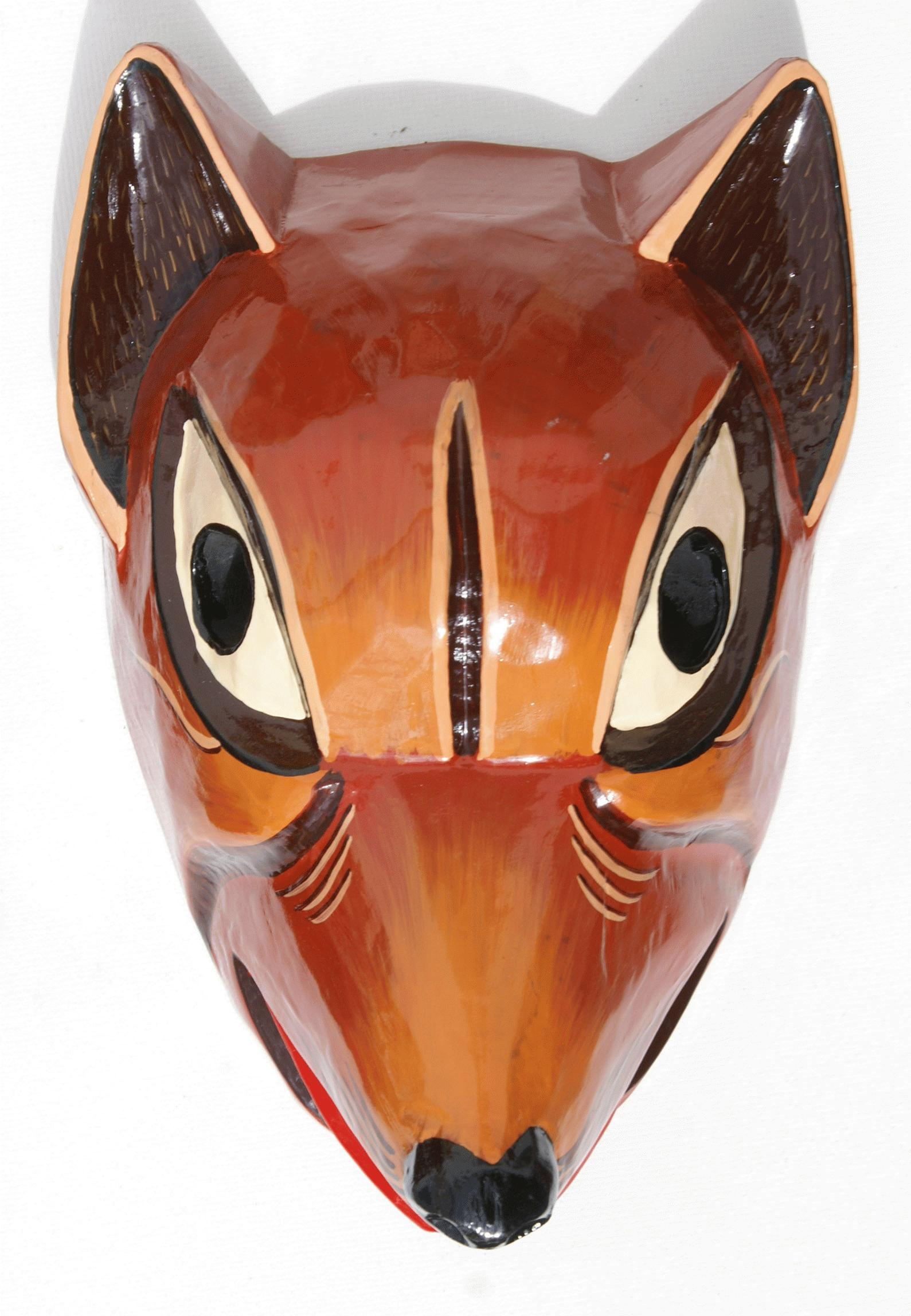 Dog Wooden Mask Crafts From Ecuador