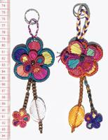 Porte-clés de fleurs