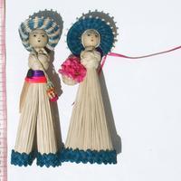 Toquilla straw dolls