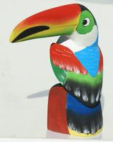 Wooden carved tucan