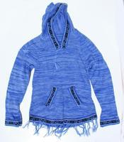 Azul alpaca con capucha