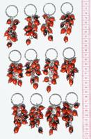 Red seed keychains