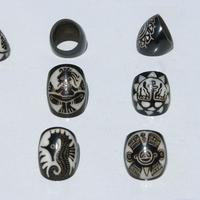 Gros anneaux de tagua
