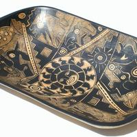 Ethnic wooden plate