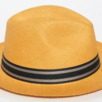 Chapeau de paille orange toquilla