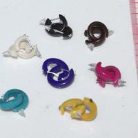 Earrings, tagua nut