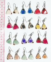 色三角形のイヤリング