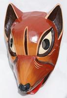 Hund aus Holz Maske