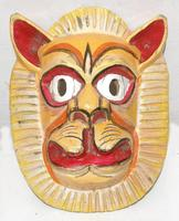 Lion wood mask
