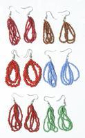 Boucles d'oreilles perles colorées
