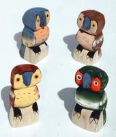 Sculptures de chouettes