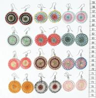Horsehair round earrings