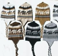 Alpaca hats of natural colors