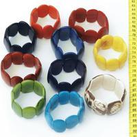 Wide Tagua Bracelets