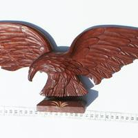 Eagle wooden carving