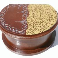 Boîte ronde en bois