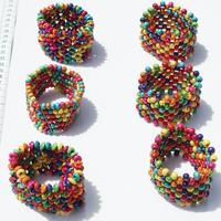 Color pulseras de perlas