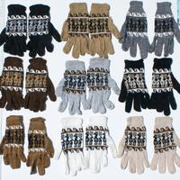 自然な色の手袋