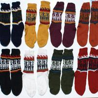 Color alpaca socks