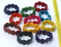 Liten Färg Tagua Armband