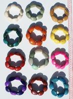 Pulseras de perlas de tagua