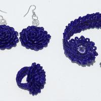 Toquilla straw jewelry set