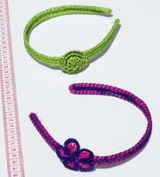 Toquilla straw hairbands