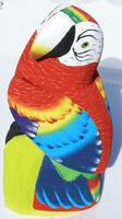 Stor trä-papegoja
