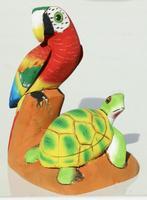 Papagei und Schildkröte