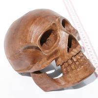 Wooden skull 15 cm