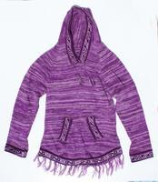 Violet alpaca con capucha