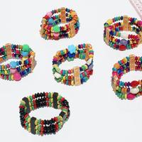 Bracelets de perles en bois