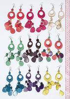 Boucles d'oreilles en tagua noix