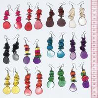 Boucles d'oreilles en tagua