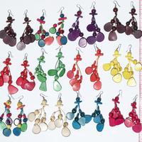 Tagua noten oorbellen