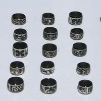 Bagues noirs noix de tagua
