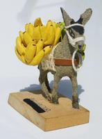 Burro con plátanos