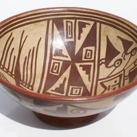 Plaque de céramique indienne