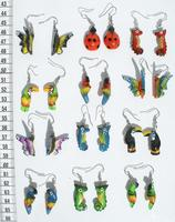 Boucles d'oreilles en balsa