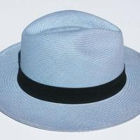 Sky blue straw hat