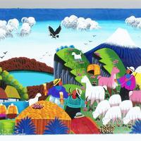 Dibujos de colores, tamaño 20 x 15 cm