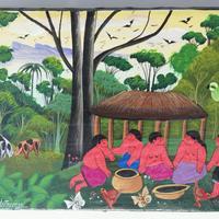 Peinture de la jungle indienne