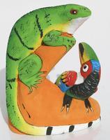 Iguana y tucán