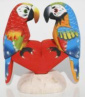 Deux perroquets figurine