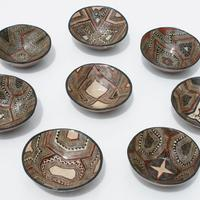 Placas de cerámica pequeños