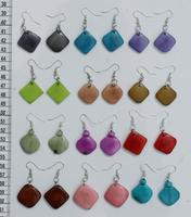 Colored Tagua Earrings