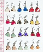 Colored triangle earrings