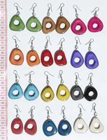 Tagua natural earrings