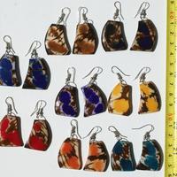 Tagua dangle earrings